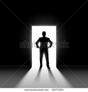 stock-vector-silhouette-of-man-entering-dark-room-with-bright-light-in-doorway-152771651